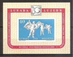 Switzerland 1951 - Philatelic Exhib.LUNABA - Zwitserland