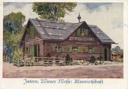 Intern. Wiener Messe - Almwirtschaft, Künstler-Werbekarte Gel.1937 - Werbepostkarten
