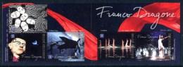 BELGIQUE / BELGIUM (2012) - FRANCO DRAGONE - Carnet / Booklet - Theatre, Piano, Cirque Du Soleil - Belgium
