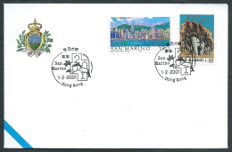 2001 SAN MARINO BUSTA SPECIALE HONG KONG - RSM2001 - FDC
