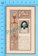 Gold Print, Marin ( Decoupis Sur Feuillets Du Curé D'ars, Avec Pensée   ) Image Pieuse Holy Card Santino 4 Scans - Images Religieuses