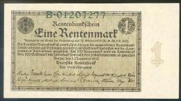 Germany, Deutschland, 1 Rentenmark, Rentenbankschein, 1923, Ro. 154 A, UNC ! - [ 3] 1918-1933 : Repubblica  Di Weimar