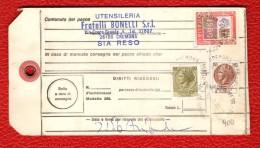 ITALIA - 1980 - BOLLETTINO SPEDIZIONE PACCO ORDINARIO - DA CREMONA A TARANTO
