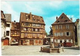Colmar: SOLEX, RENAULT 4CV, CITROËN TYPE H TUBE - Place Et Monument Schwendi - (Ht-Rhin, France) - Passenger Cars