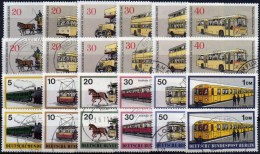 Transport 1971+1973 BERLIN 379/4+446/1 **/o 20€ Obus Pferdebahn Bus METRO Eisenbahn Dampf-Lok Train Topic Lot Of Germany - Busses