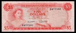Bahamas 5 Dollars 1965 P.20 F - Bahamas