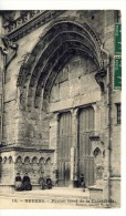 Cp , 58 , NEVERS , Portail Nord De La Cathédrale , Voyagée 1909 - Nevers