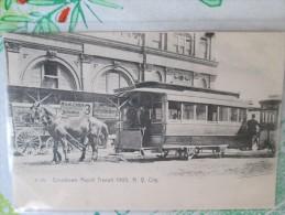 CROSSTOWN RAPID TRANSIT 1905 N Y CITY    RARE TRAMWAY A CHEVAL - Sonstige