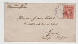 Gua051/ Quezal 10 C. Nach Belgien 1893 - Guatemala