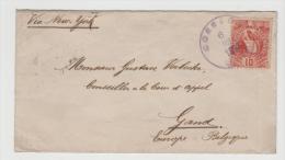 Gua051/  GUATEMALA - Quezal 10 C. Nach Belgien 1893 - Guatemala