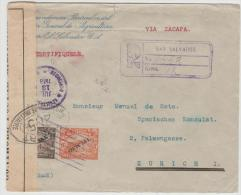 Sal008/ EL SALVADOR -  Dienstbrief Des Landwirtschaftsministeriums Zum Span. Konsulat, Zürich - El Salvador