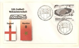 Soccer Football Mexico  England FDC - World Cup