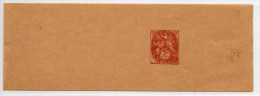 ENTIER BANDE JOURNAL NEUF - TYPE BLANC 2c - Enteros Postales