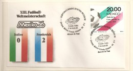 Soccer Football Mexico  France FDC - World Cup