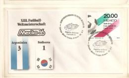 Soccer Football Mexico Korea Argentina  FDC - 1986 – México