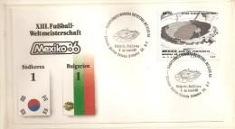 Soccer Football Mexico Bulgaria Korea  FDC - 1986 – México