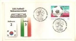 Soccer Football Mexico Korea FDC - 1986 – México