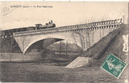 GIMONT Le Pont Saint Jean Et Locomotive - Pelurage - France