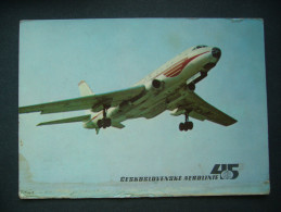 Czechoslovak Airlines - With CSA On Long Trips By TU 104 Jetliner (Tupolev) - Unused Ca 1960s - 1946-....: Modern Era