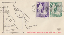 Enveloppe   1er  Jour     CHILI    Année  Mondiale  Du   Réfugié  1960 - Chili