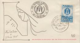 Enveloppe   1er  Jour    BRESIL    Année  Mondiale  Du   Réfugié  1960 - FDC