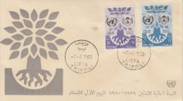 Enveloppe   1er  Jour    LIBYE    Année  Mondiale  Du   Réfugié  1960 - Libye