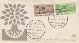 Enveloppe   1er  Jour    YEMEN    Année  Mondiale  Du   Réfugié  1960 - Yémen