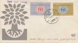 Enveloppe   1er  Jour    JORDANIE    Année  Mondiale  Du   Réfugié  1960 - Jordanie
