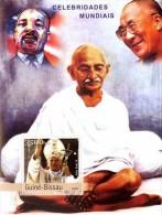 GUINEA BISSAU 2003 - Dalai Lama, Celebrities - Mi B426, YT BF165 - Buddhism