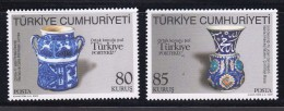 TURKEY TURQUIE 2009 TURKEY PORTUGAL JOINT ISSUE. CERAMIC - 1921-... Republiek