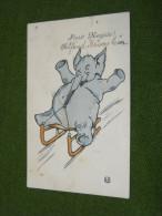 Elephant, Artist ??? Signee Carte, Cir. 1914 (zi479) - Elephants