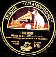 78 Trs - 30 Cm - Ange - état B -  Orch. Symphonique Albert COATES - LOHENGRIN Préude Du 3e Acte - CHOEUR DES FIANCAILLES - 78 Rpm - Schellackplatten