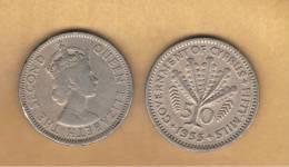 CHIPRE - 50 Mils  1955  Km36 - Chipre