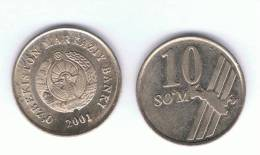 UZBEKISTAN -  10 Som  2001  KM14 - Uzbenisktán