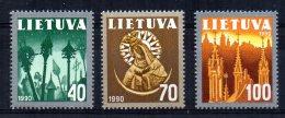 Lithuania - 1991 - Churches - MNH - Lithuania