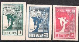 Lithuania 1990 Angel of peace, Mi 457, 459, 460, MNH(**)