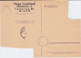 Britische Zone Notganzsache P A26 A Hamburg 1945 Ungebr (1) - Bizone