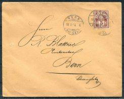 1894 Switzerland Bern Local Cover - Cartas