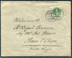 1893 Switzerland 25 Rp Green Solothun - Vosges France - Cartas