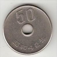 *japan 50 Yen  Yr 45 = 1970  Km 81    Unc !! - Japon