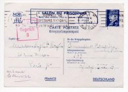 """1942 - KRIEGSGEFANGENENPOST (CORRESPONDANCE DES PRISONNIERS DE GUERRE) """"SALON DU PRISONNIER"""" Pour OFLAG VIII A - Entiers Postaux"""