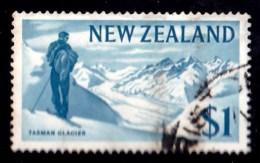New Zealand 1967 Decimal Currency $1 Tasman Glacier Used - - New Zealand