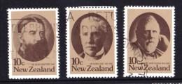New Zealand 1979 Statesmen Set Of 3 Used - New Zealand