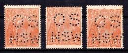 Australia 1920 King George V 2d Orange Single Crown Perf OS NSW MH - Three Of - 1913-36 George V: Heads