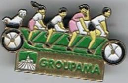 Pin's  Groupama  3.7 Cm  X 2 Cm - Wielrennen