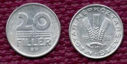 Hongrie 20 Filler 1988. - Hongarije