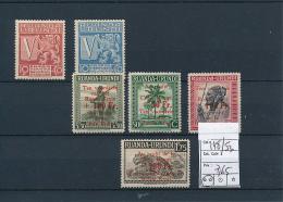 RUANDA URUNDI 1944 ISSUE COB 148/53  MNH