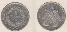 France  5 Francs 1875 A  Hercule  1875A - J. 5 Franchi