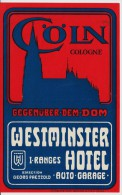 Flyer Westminster Hotel Köln - Affiches