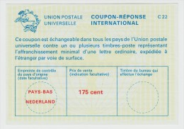 Coupon-Reponse International 175 Cent - Postal Stationery